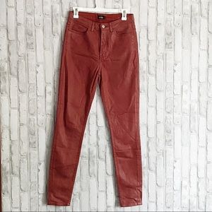 Kate Spade Saturday Coated Red Skinny Jeans sz 28